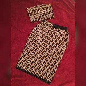 Fendi Skirt Set